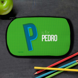 Double Initial Green Pencil Case by Spark & Spark