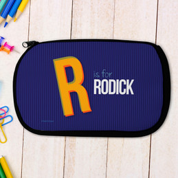 Double Initial Blue Pencil Case by Spark & Spark