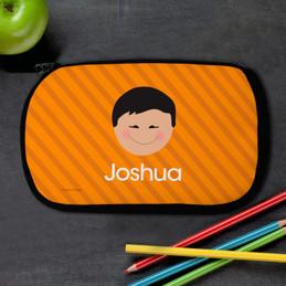 Just Like Me Boy - Orange Pencil Case