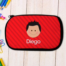 Just Like Me Boy - Red Pencil Case