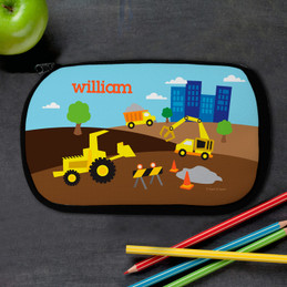 Construction Site Personalized Pencil Case For Kids