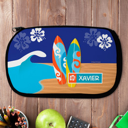 Surfboards Personalized Pencil Case For Kids