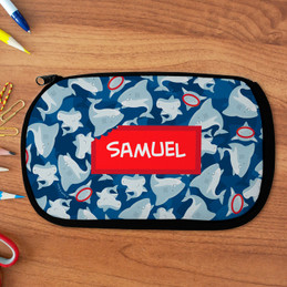 Shark Bite Personalized Pencil Case For Kids