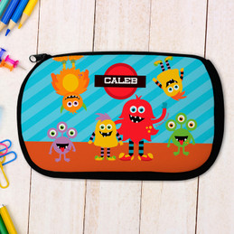 Monster Attack Personalized Pencil Case For Kids
