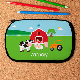 Farm Animals Personalized Pencil Case For Kids