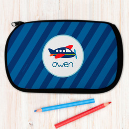 Airplane Ride Personalized Pencil Case For Kids