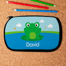 Cute Smiley Frog Pencil Case by Spark & Spark