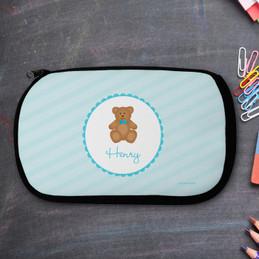 Cute Blue Teddy Bear Pencil Case by Spark & Spark