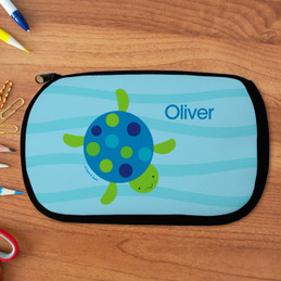 Swimming Blue Turtle Pencil Case by Spark & Spark