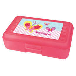 smiley butterfly pencil box for kids