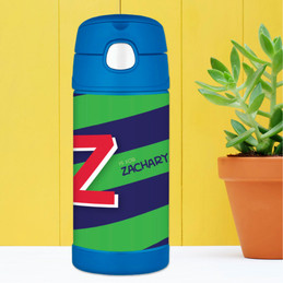 Brilliant Initial Green Thermos Bottle