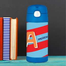 Brilliant Initial Red Thermos Bottle
