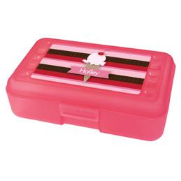 strawberry ice cream cone pencil box for kids
