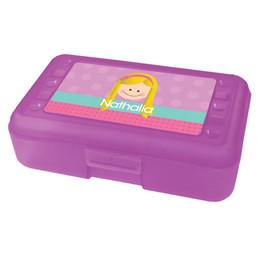lavender just like me pencil box for kids
