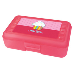 Rainbow Cupcake Personalized Pencil Box