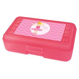 sweet blonde ballerina pencil box for kids