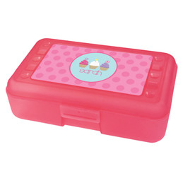 sweet cupcakes pencil box for kids