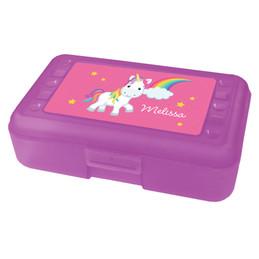 rainbow unicorn pencil box for kids