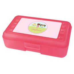 three cheerleaders pencil box for kids