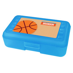 Basketball Fan Boy Personalized Pencil Box