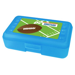 Football Fan Personalized Pencil Box
