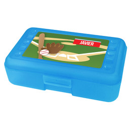 Baseball Fan Personalized Pencil Box
