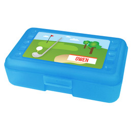My Love For Golf Personalized Pencil Box