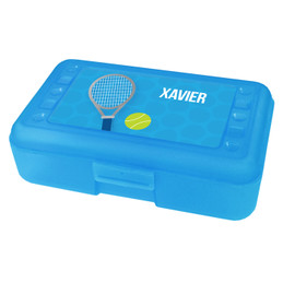 Tennis Fan Boy Personalized Pencil Box