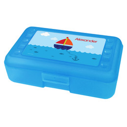 Sailing the Blue Ocean Personalized Pencil Box