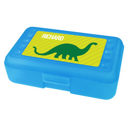 Dino and me Green Personalized Pencil Box