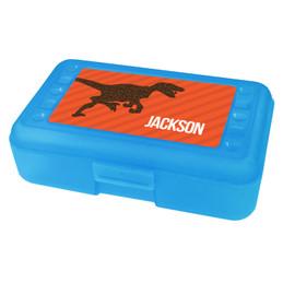 Dino and me Orange Personalized Pencil Box