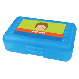 Just Like Me Boy Green Personalized Pencil Box