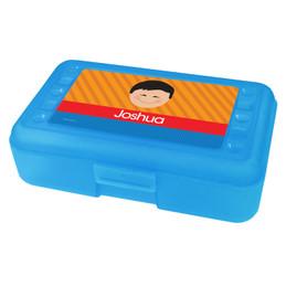 Just Like Me Boy Orange Personalized Pencil Box