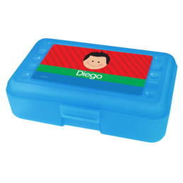 Just Like Me Boy Red Personalized Pencil Box