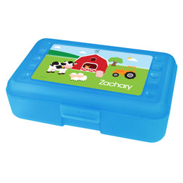 A Day in the Farm Personalized Pencil Box