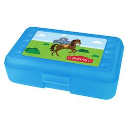 Cute Race Horse Personalized Pencil Box
