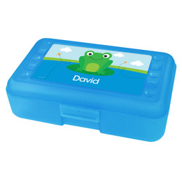 Cute Smiley Frog Personalized Pencil Box