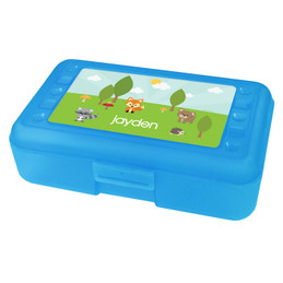 Cute Animals in the Forest Personalized Pencil Box