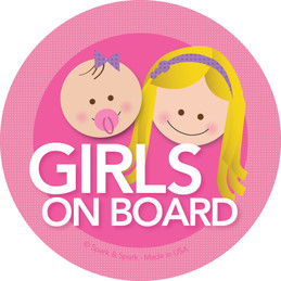 Cool Baby on Board Sticker with Blonde Girls | Spark & Spark