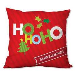 Ho Ho Xmas Here Personalized Pillow