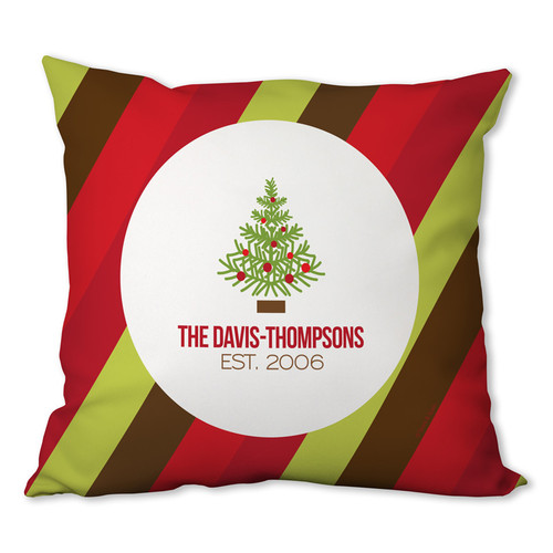 Fancy Xmas Tree Personalized Pillow