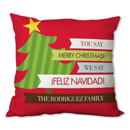 Feliz Navidad Personalized Pillow