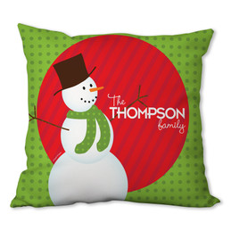 The Snowman is Here Personalized Pillow