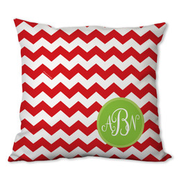 Chevron and Initials Personalized Pillow