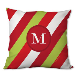 Bold Xmas Stripes Personalized Pillow