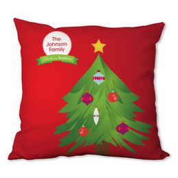 The Christmas Tree Tradition Personalized Pillow