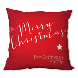 Merry Christmas Message Personalized Pillow