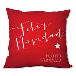 Mensaje de Feliz Navidad Personalized Pillow