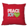 Peace, Joy and Love Personalized Pillow