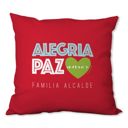 Alegria, Paz y Amor Personalized Pillow